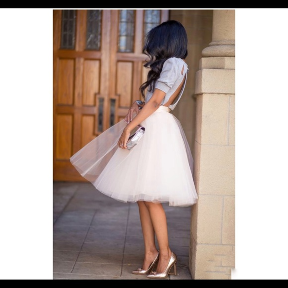 92db847ef4 Space 46 Boutique Skirts | The Wendy Ivory 30 Tulle Skirt | Poshmark